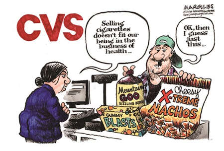 Margulies on CVS end to cigarette sales irony