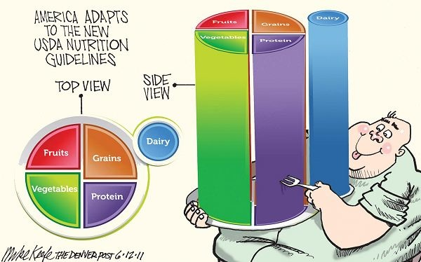 Mike Keefe on USDA nutrition guidelines and obesity 6-10-11