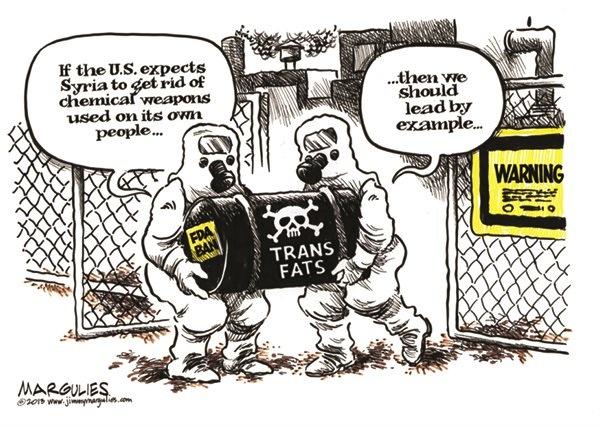 Jimmy Margulies Nutrition Cartoon - trans fat ban 11/9/13